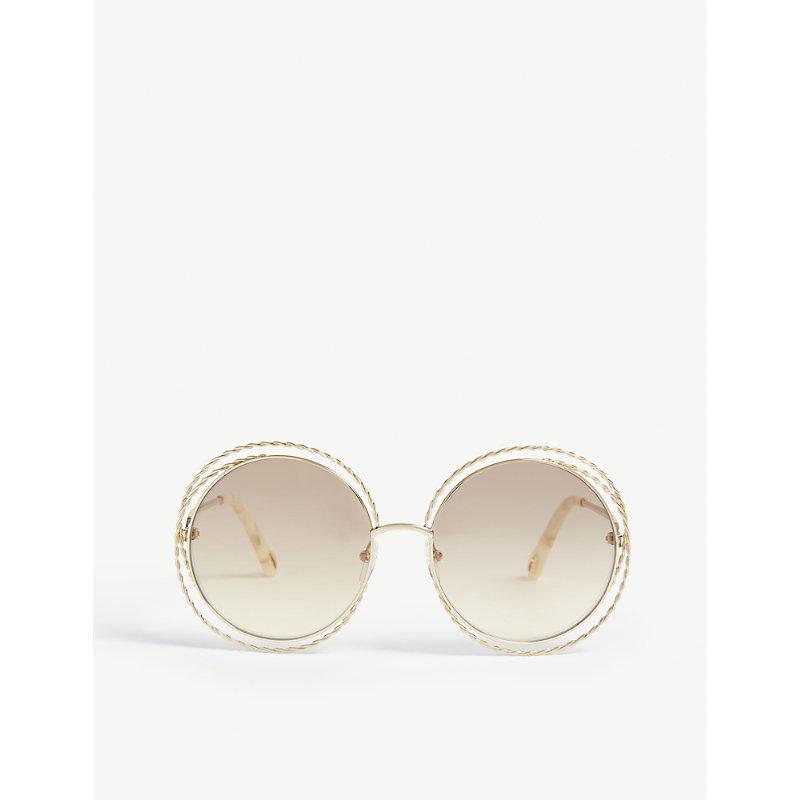CHLOÉ | CE114ST Round-Frame Sunglasses | Goxip