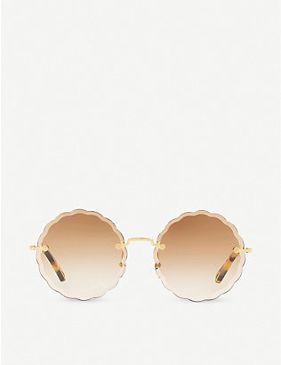 CHLOE: Rosie Flower CE142S titanium and acetate round sunglasses