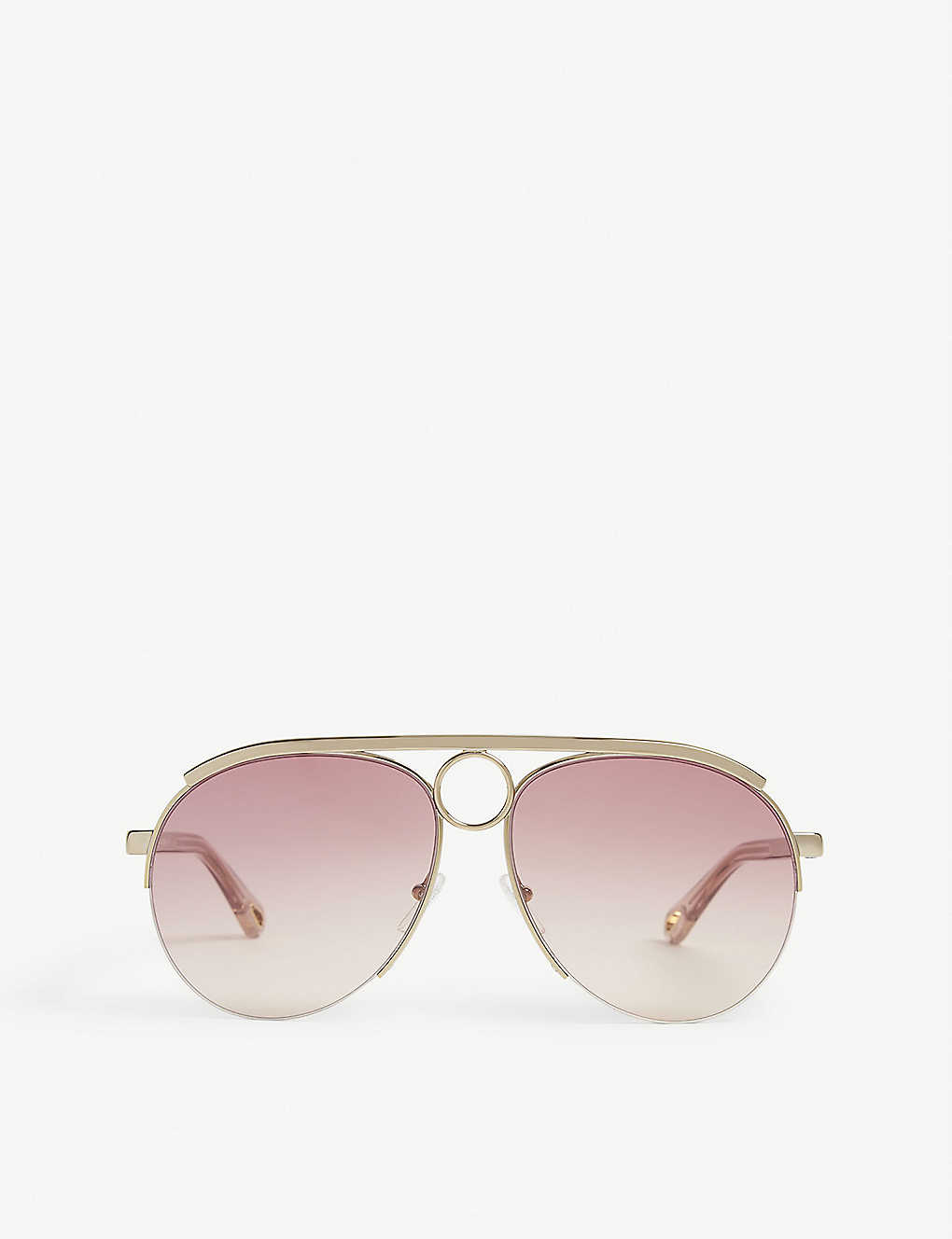 CHLOE: Aviator frame sunglasses