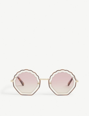 CHLOE Aviator frame sunglasses