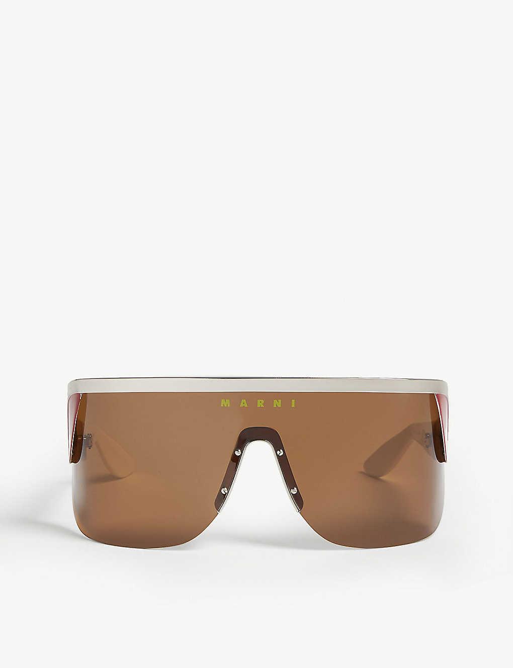 Marni Sunglasses ME111S shield sunglasses