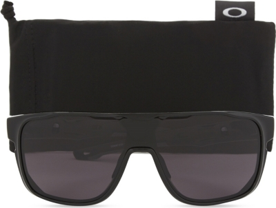5e34c865e32 Oakley Crossrange Shield Rectangle-Frame Sunglasses In Black