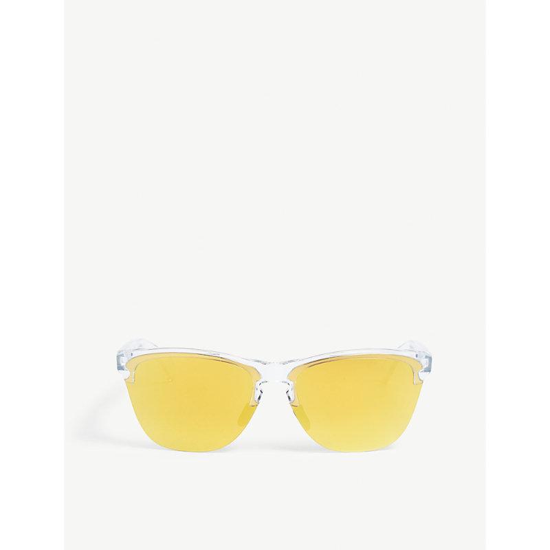 OAKLEY   OO9374 Frogskins Lite Cat-Eye Frame Sunglasses   Goxip