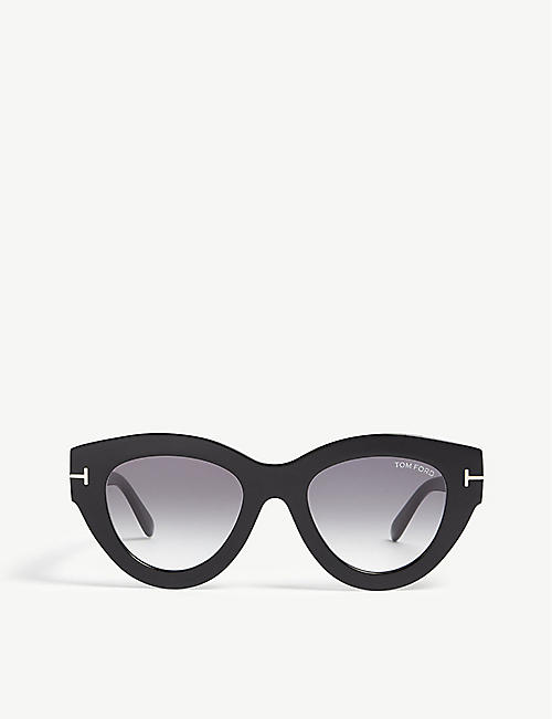 TOM FORD: Slater cat eye-frame acetate sunglasses