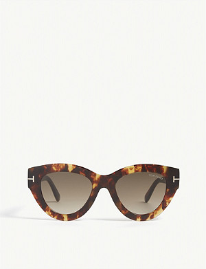 280a75946745a TOM FORD · Slater tortoiseshell cat eye-frame sunglasses