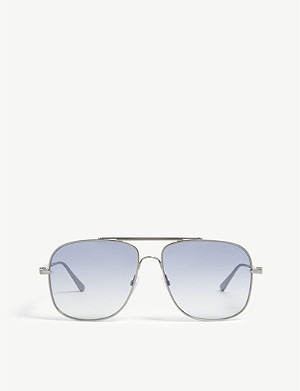 TOM FORD Jude aviator-frame sunglasses