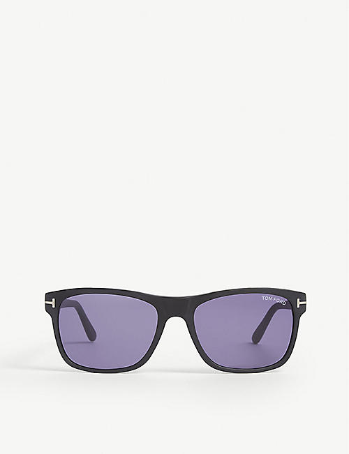 TOM FORD: Giulio matte rectangle-frame sunglasses