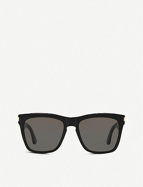 SAINT LAURENT: 137 DEVON 55 acetate square-frame sunglasses
