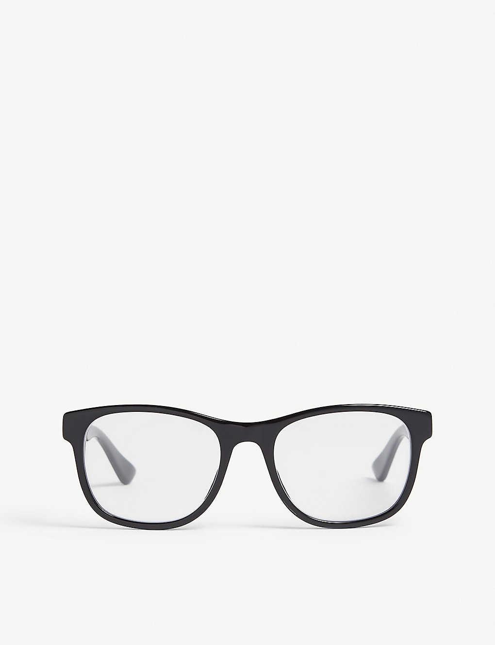 e453111e0c78 GUCCI - GG0004O square-frame glasses | Selfridges.com