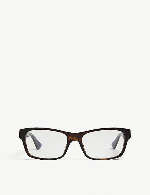 0505120e9af GUCCI GG0006O rectangle-frame Havana glasses. Quick view Wish list