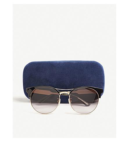 6e51b2ff976 GUCCI GG0075S round-frame sunglasses (Black