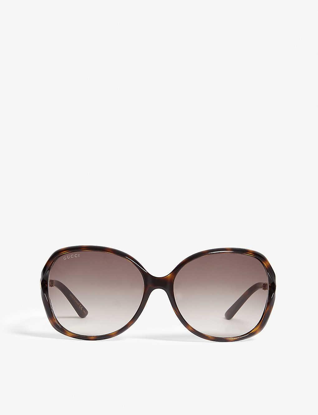 0059dad7977db GG0076S tortoiseshell round sunglasses - Tortoise ...
