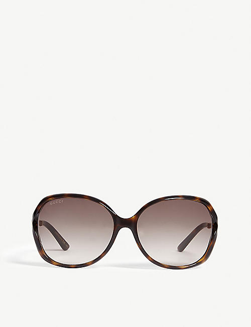 6a48b10cc7b GUCCI GG0076S tortoiseshell round sunglasses. Quick view Wish list