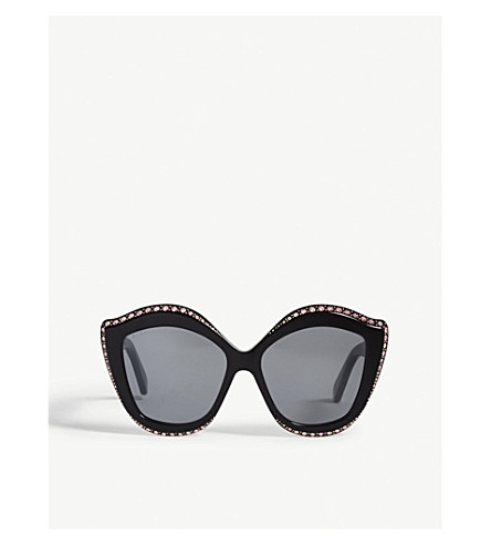 5e1cfceff1a GUCCI - GG0188S cat-eye frame sunglasses