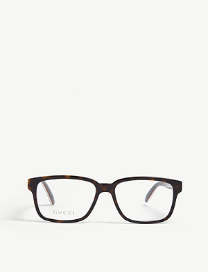 GUCCI GG0272O tortoiseshell rectangle glasses