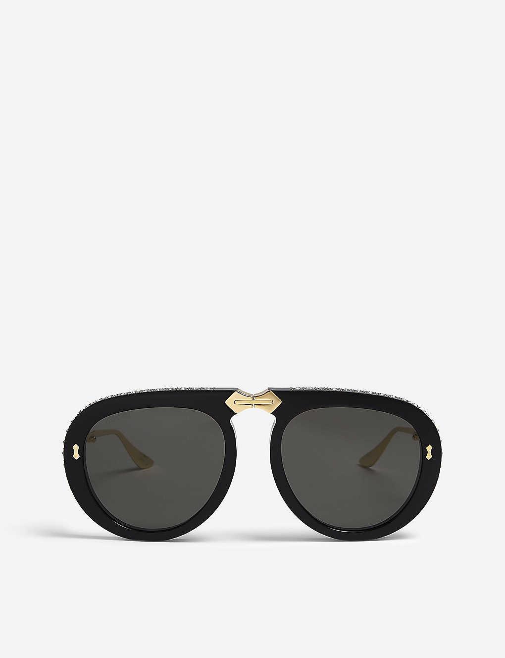 4b31a4b6326 GG0307s pilot-frame foldable sunglasses - Gold ...