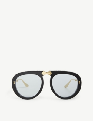 GUCCI Gg0307s folding aviator sunglasses