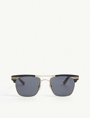 GUCCI Gold shiny GG0291S square sunglasses