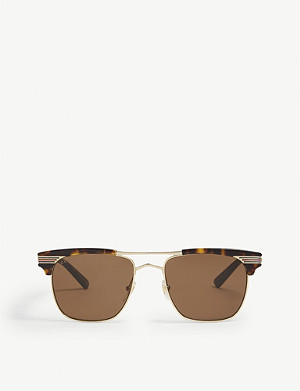 GUCCI Gg0287s rectangle-frame sunglasses