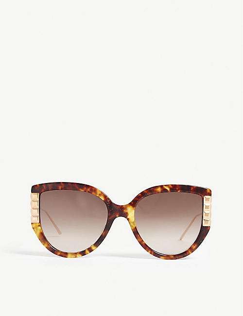 BOUCHERON: BC0050S Havana cat-eye sunglasses
