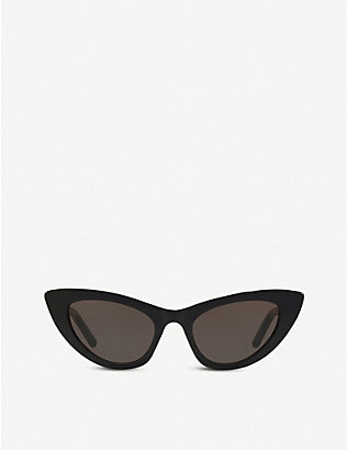 SAINT LAURENT: SL213 New Wave Lily acetate cat-eye sunglasses