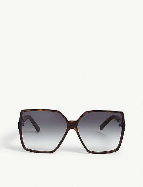 SAINT LAURENT: Betty Havana square-frame sunglasses