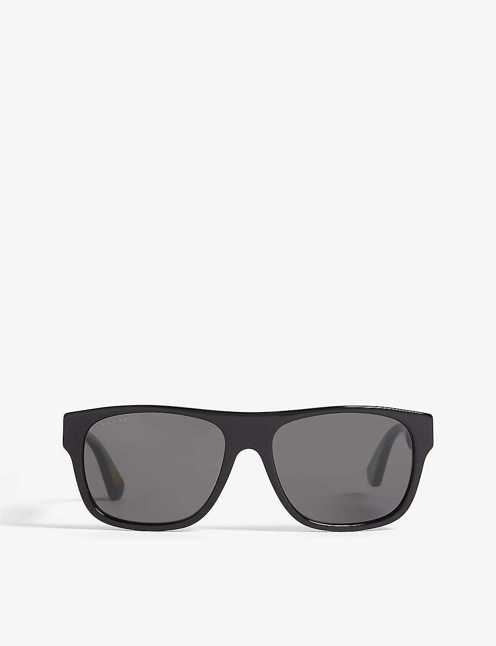 dade51119 GUCCI - Gg0341s rectangle-frame sunglasses | Selfridges.com