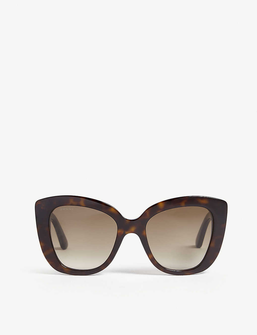 aad0ee4707b7b GUCCI - Havana Gg0327s cat-eye frame sunglasses