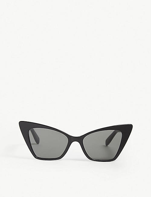 SAINT LAURENT: New Wave SL244 Victoire cat-eye frame sunglasses