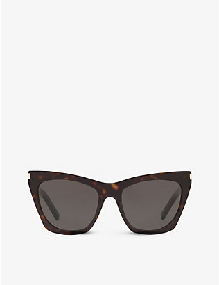 SAINT LAURENT: SL214 Kate cat-eye-frame acetate sunglasses