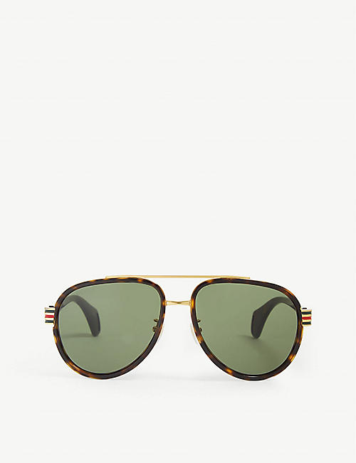 GUCCI GG0447S aviator sunglasses