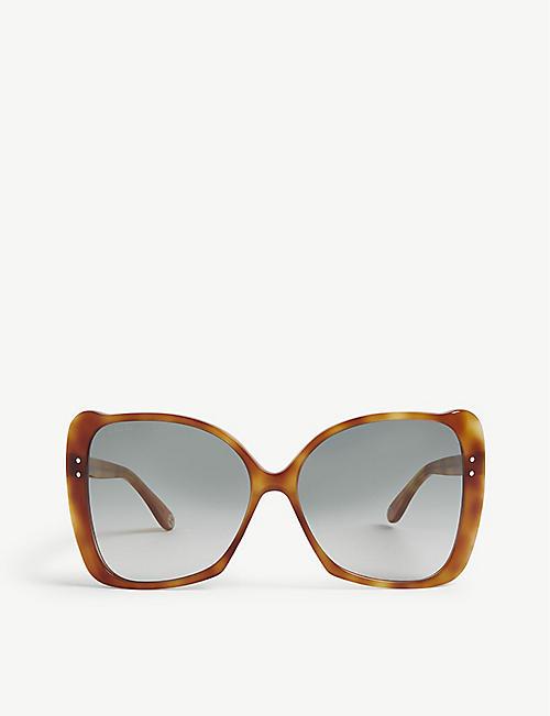 a2c1791c869 GUCCI GG0471 butterfly-frame Havana sunglasses