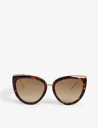 BOUCHERON: Oversized acetate cat-eye sunglasses