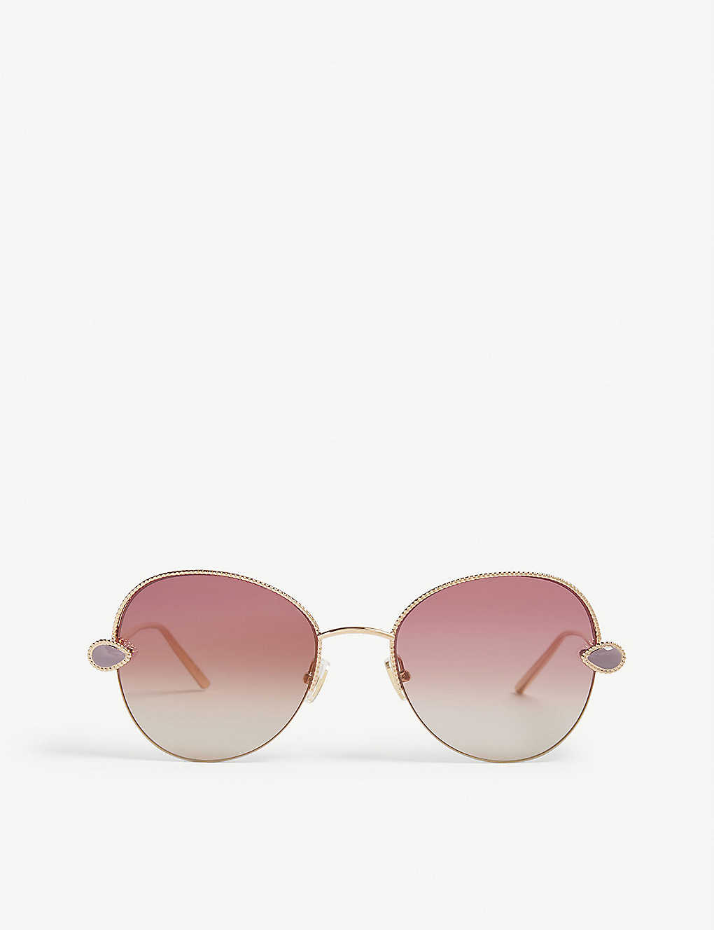 BOUCHERON: Serpent Bohème aviator-frame sunglasses