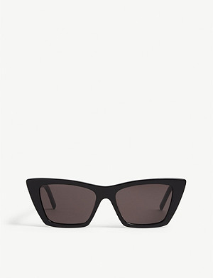 SAINT LAURENT Mica cat-eye frame acetate sunglasses