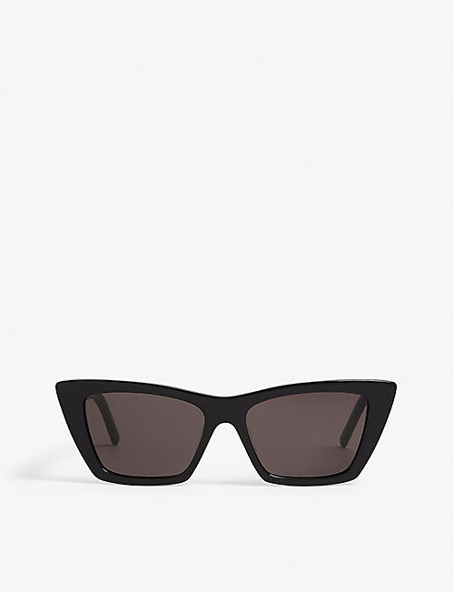 SAINT LAURENT: Mica cat-eye frame acetate sunglasses