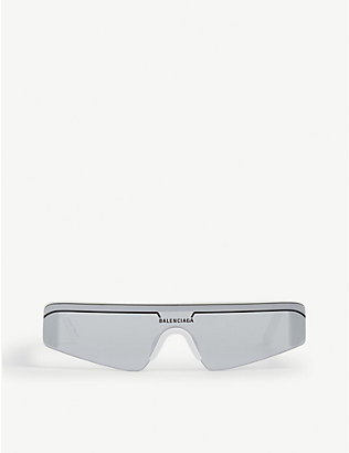 BALENCIAGA: BB0003S rectangle-frame sunglasses