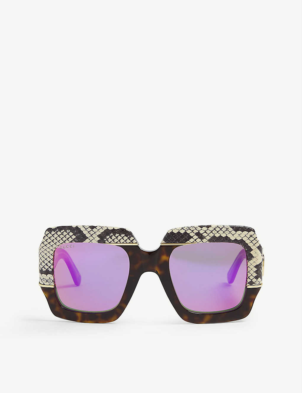 GUCCI: Oversized square frame sunglasses