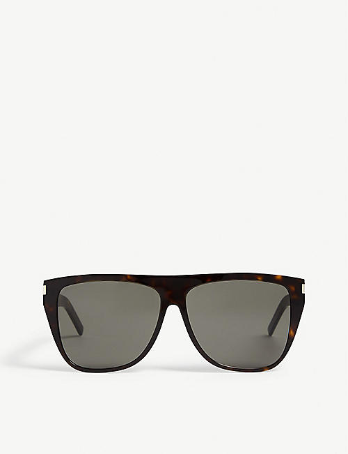SAINT LAURENT SL1 slim square-frame sunglasses