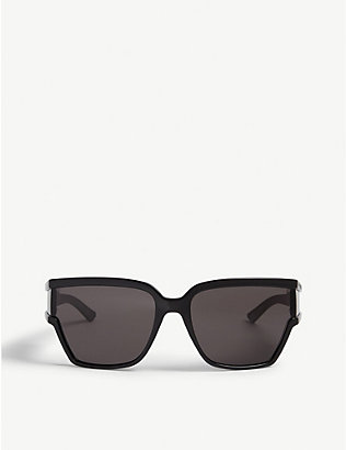 BALENCIAGA: BB0039S wrap-around sunglasses