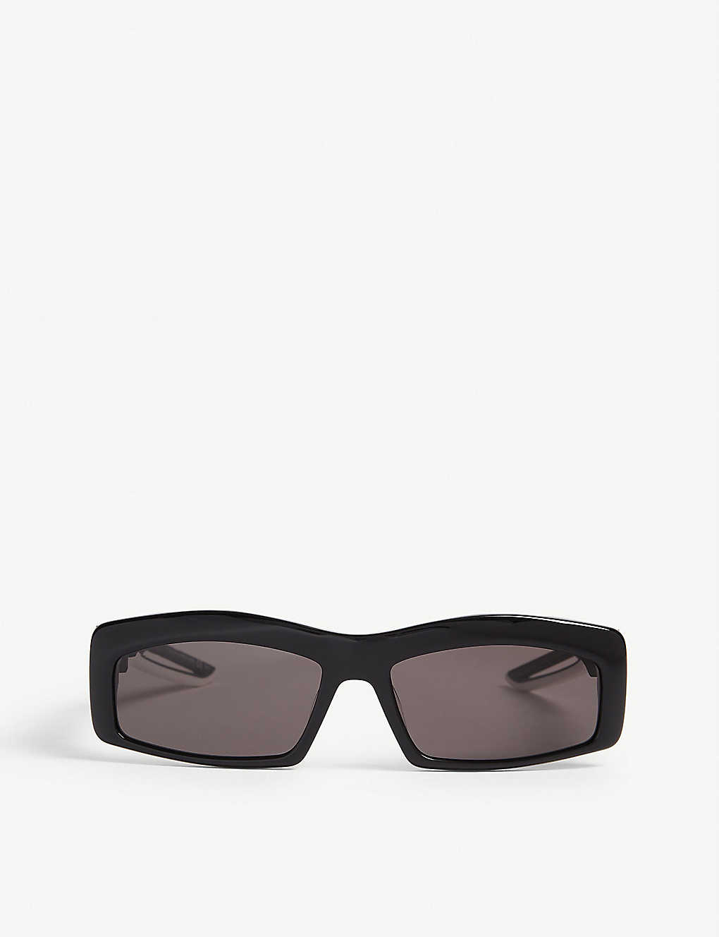 BALENCIAGA: Hybrid Rectangle acetate sunglasses