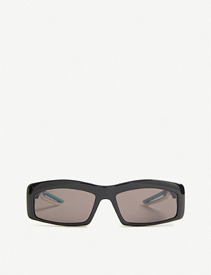 BALENCIAGA Hybrid Rectangle acetate sunglasses