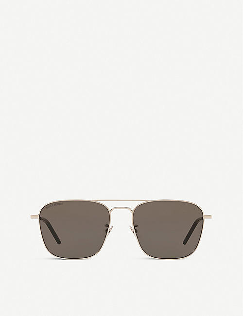 SAINT LAURENT: SL30958 metal and acetate aviator sunglasses