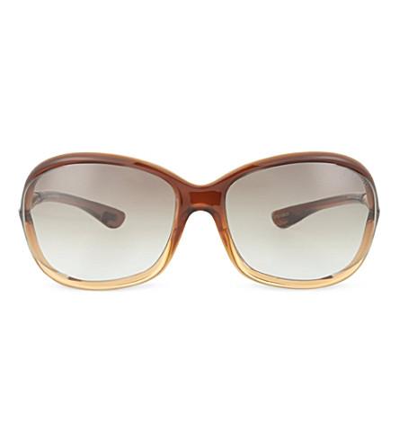 012740e7e740a TOM FORD FT008 Jennifer oversized sunglasses (Light+brown