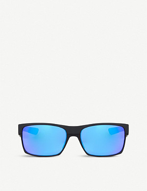 OAKLEY Matte black square sunglasses