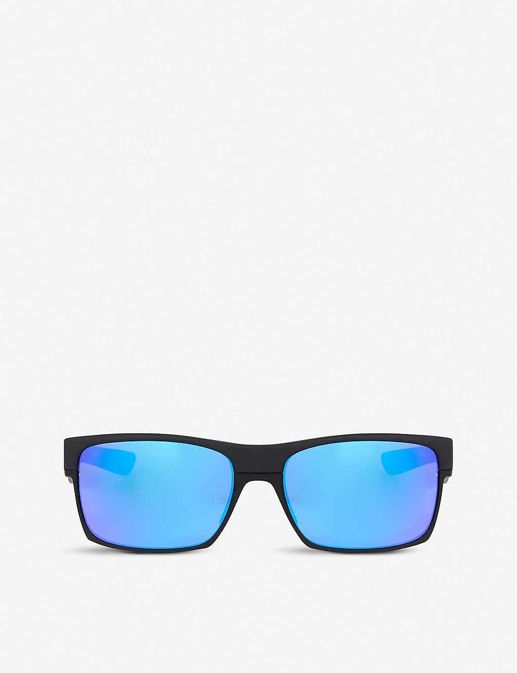 OAKLEY: Matte black square sunglasses