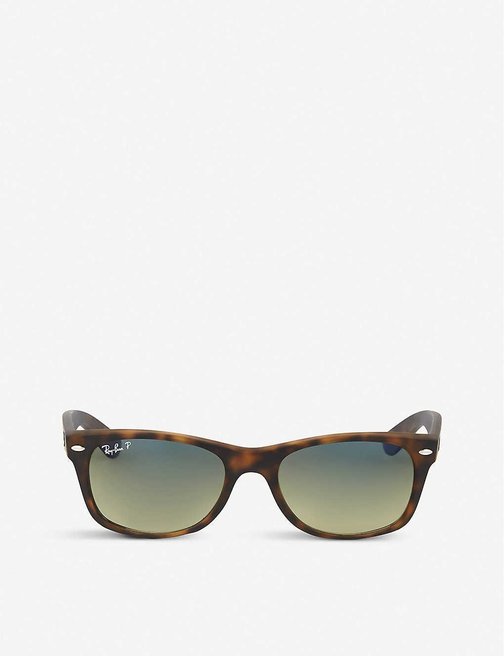 0f8ecd4690bbf RAY-BAN - Tortoiseshell matte finish wayfarer sunglasses RB2132 52 ...