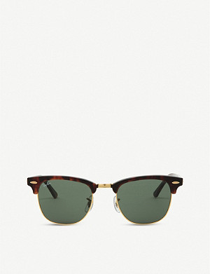 RAY-BAN Tortoise shell clubmaster sunglasses RB3016 49