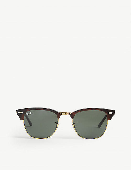 RAY-BAN Tortoise shell clubmaster sunglasses RB3016 51