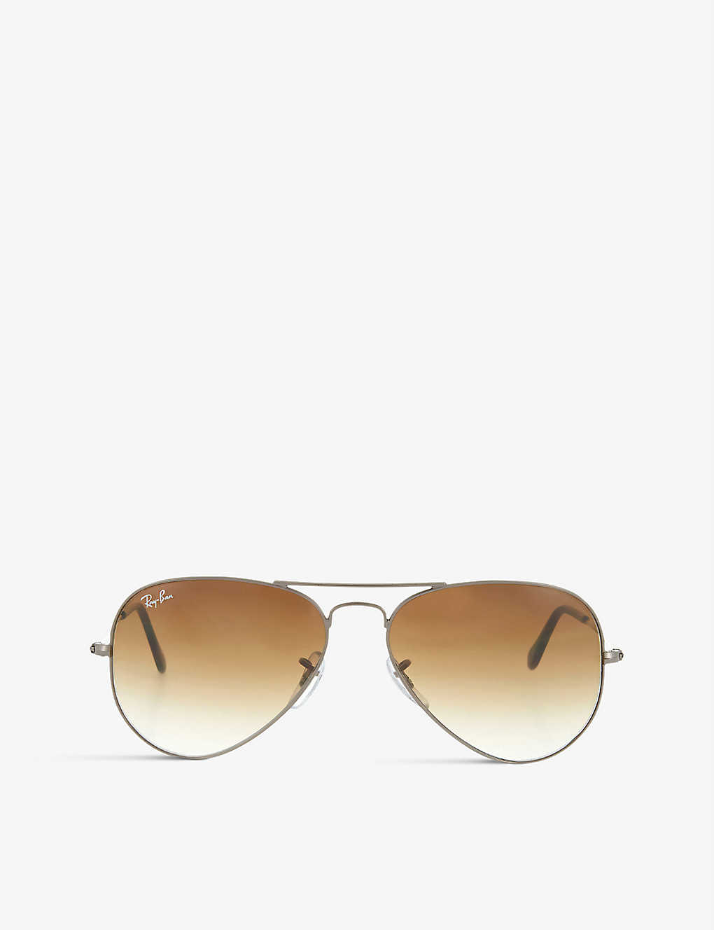 RAY-BAN: Gunmetal aviator sunglasses with gradient lenses RB3025 55